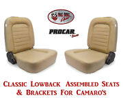 Scat Classic Series 80-1550-54 Seats And Brackets Set For 1967-2002 Chevy Camaro