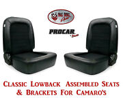 Scat Classic Series 80-1550-71 Seats And Brackets Set For 1967-2002 Chevy Camaro