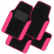 Carxs Carpet Floor Mats For Car Suv Truck Two Tone Color Pu Leather Trim Pink