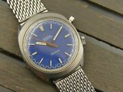 60and039s Vintage Watch Mens Omega Chronostop Ref. 145.009 Cal. 865 Blue Dial Rare