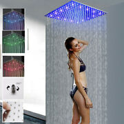 16-inch Square Led Rainfall Shower Head Stainless Steel Top Sprayer Shower Head