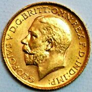 Great Britain Gold Sovereign 1913 London Mint George V Km820 R330-l