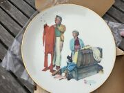 1978 Norman Rockwell Four Seasons Plates Limited In Edition Gorham China In Box