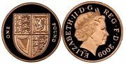 2009 Uk Andpound1 One Pound Royal Mint Shield Of The Royal Arms 19.61 G Proof Gold Coin