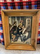 Painting By David Scott R.s.a. 1806-49 Canvas On Wood Panel 17 X 13