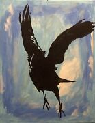 """""""sorry, I Scratched Your Sky """", Original Painting Canvas Book Cover Art, 1 Of 1"""