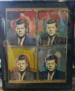 Peter Max Orig. Serigraph - Jfk Andndash Four Kennedyandrsquos - Hand Signed 40 X 32 471