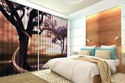 3d Anime Tree 66 Blockout Photo Curtain Printing Curtains Drapes Fabric Window