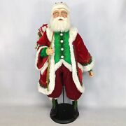 Katherine's Collection 2020 Santa With Toy Bag Figurine, 32 Inches