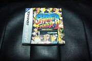 Super Street Fighter Ii Turbo Revival Nintendo Game Boy Advance W/ Case And Manual