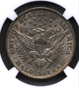 1909 S Barber Half Dollar Silver Coin 50 Cents Ngc Au 58 Real Gem