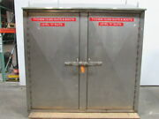Stainless Steel Storage Cabinet Lockable 1 Shelf 80wx27dx81t Divided