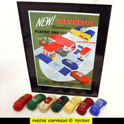Wannatoy Dillon Beck Futuristic Bubble Top Wheeled Plastic Toy Cars + Framed Ad