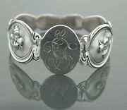 American Art Nouveau Unger Brothers Sterling Napkin Ring Loves Dream C. 1908