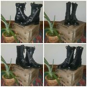 Vtg Gorilla Combat Military Boots Scovill Zipper Mens Size 10.5 Dated 1960and039s