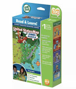 Leapfrog Interactive Us Map Jumbo Floor Tag Reading Two Sided Geography Puzzle