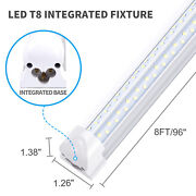 8foot 120w Led Shop Light V Shaped Double Side 4 Rows Integrated T8 8ft Led Tube