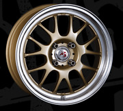 Crimson Rs St Air 15x6.5j +35 Gold Set Of 4 For Scion Xb 2003-2006 From Japan