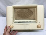 Vintage 1940s Wards Airline Tube Am Radio Model 6d12 White Usa Humms