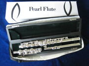 Used Mint Pearl Pf-765rbe Flute Solid Silver Head Body And B-foot Split E