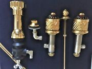 New Thg Paris 4 Hole Bidet Faucet Real Gold Plated