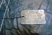 Orig. Wwii Army Air Forces Life Raft Lead Tag Raft Not Complete Aaf Survival