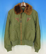 Army Air Force B-15a 1940s Vintage Flight Jacket Size 36 Men's Outerwear Olive