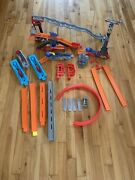 Hot Wheels Trick Tracks Stunt Lot W/ Track, 2 Clamps, Connectors And 4 Launchers