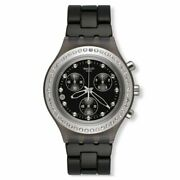 Swatch Full Blooded Chrono Black Dial Aluminum Quartz Ladies Watch Svcm4009ag