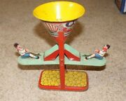 Vintage J. Chein Tin Litho Busy Mike See Saw Sand Toy
