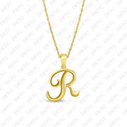 Sterling Silver Letter R Initial Charm .925 X 1 Letters Charms Pendant 23x20mm