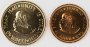 South Africa 1964 1 And 2 Rand Gold Silver Copper 9 Coin Proof Set Gem W/ Box