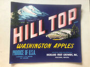 Vintage Fruit Labels 25 Yakima Chief Apples And 30 Hill Top Brand Apples