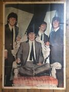 Beatles Huge Original Double Sided Poster Finland 1963 Extremely Rare