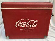 Rare Vintage 1950-60and039s Vinyl Coca-cola Cooler With Opener Lid ++ Royal Mieco