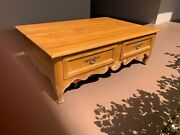 Diy Projectethan Allen 4 Drawer Large Country French Coffee Table