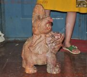 21chinese China Hongshan Culture Old Jade Auspicious Elephant Chickens Statue