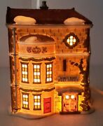 Dept 56 King's Road Post Office Vintage Lighted Christmas Village Collectible