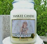 Yankee Candle Retired Song Of Angels Large 22 Oz White Label Rare New