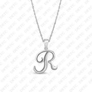 Letter R Initial Sterling Silver Charm .925 X 1 Letters Charms Pendant 23x20mm