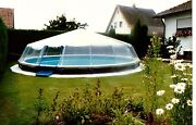 Round Hard-wall Swimming Pool Cover Fabrico Sundome-28and039 Diam./21 Panels-usa Made