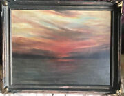 Impressionist Seascape At Dusk Oil Listed George Stratton Ferrier English