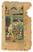Handmade Mughal Miniature Painting Old Indian Erotic Art - Gouache On Paper