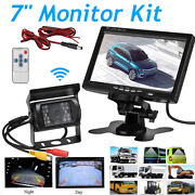 7 Monitor +wireless Ir Rear View Backup Camera Night Vision System For Truck Rv