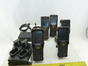 Symbol Motorola Mc9090-gj0hjefagwr Barcode Scanner Batteries And Charger Lot Of 5