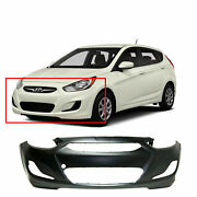 Primed Front Bumper Cover For 2014-2017 Hyundai Accent Sedan Hatchback Hy1000201