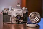 Contax Iiia With 50mm F2 Sonnar And 35mm F3.5 Planar