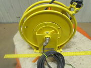 Aero-motive Retractable Electric 12/3 Cable Reel 30and039 110v Cord 20amp 600v 3-ring