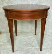 Baker Furniture Company Cherry End Table W/ Tapered Legs