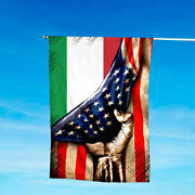 Italy Root Flag Patriotic House And Garden Flags 4th July Us American Flag